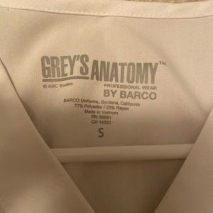 Grey's Anatomy Tops - Greys anatomy scrub top white Small